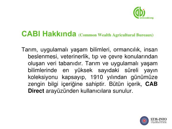 CABI Hakkında