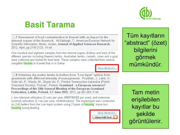 Basit Tarama