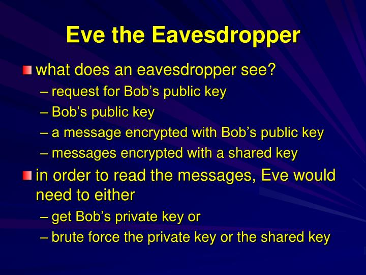 Eve the Eavesdropper