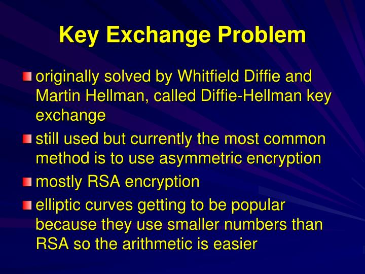 Key Exchange Problem