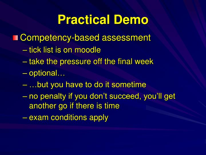 Practical demo