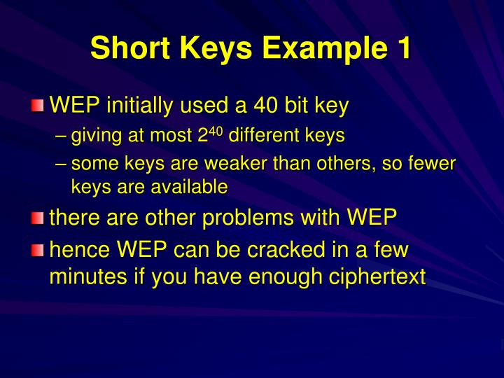 Short Keys Example 1