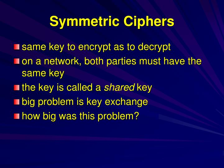 Symmetric Ciphers