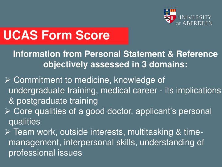 UCAS Form Score