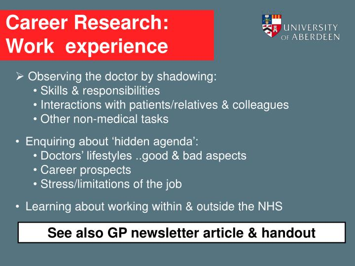 Career Research: