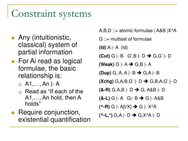 Constraint systems