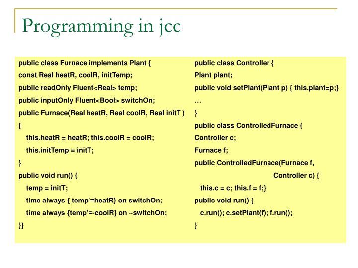 Programming in jcc