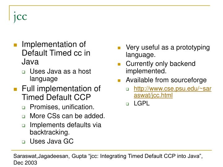 Implementation of Default Timed cc in Java