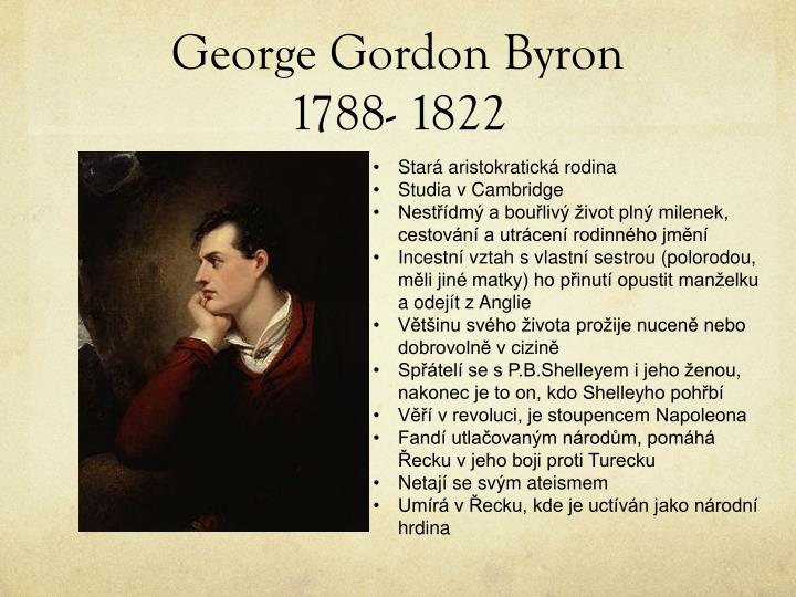 George gordon byron 1788 1822