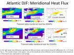 atlantic djf meridional heat flux