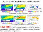 atlantic djf meridional wind variance