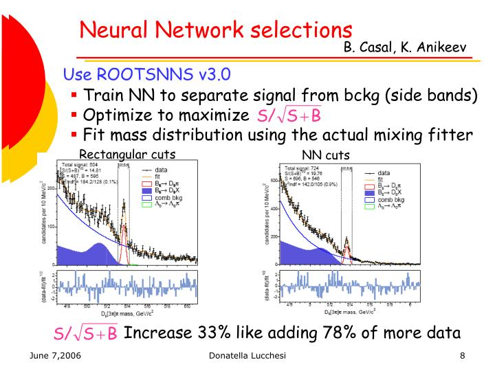 Neural Network selections