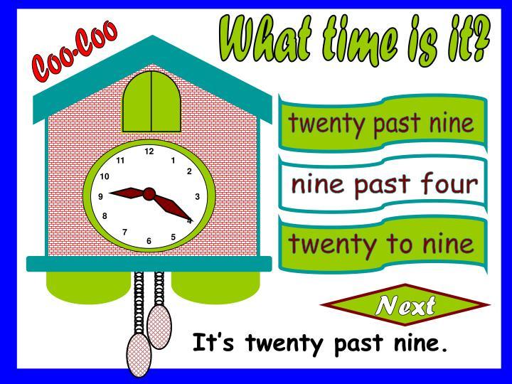 twenty past nine