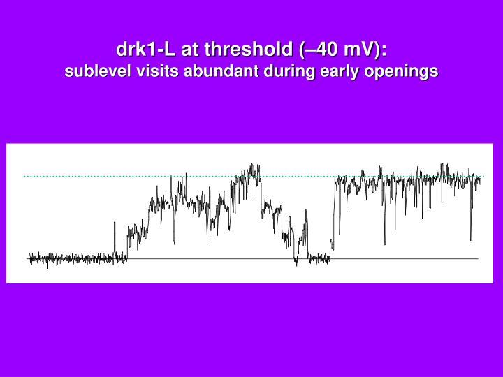 drk1-L at threshold (–40 mV):