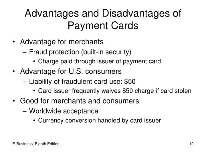 Advantages and Disadvantages of Payment Cards