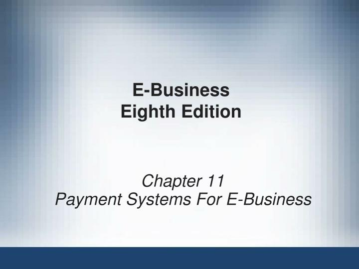 E business eighth edition