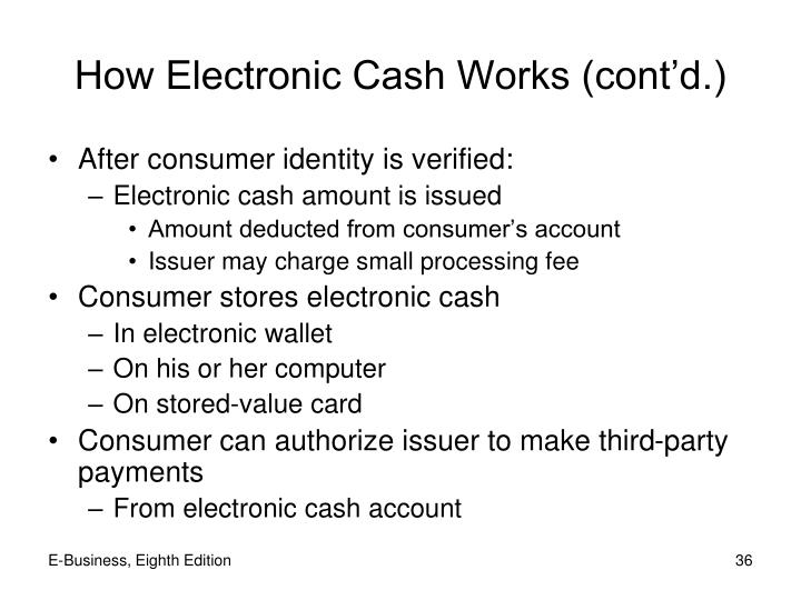 How Electronic Cash Works (cont'd.)