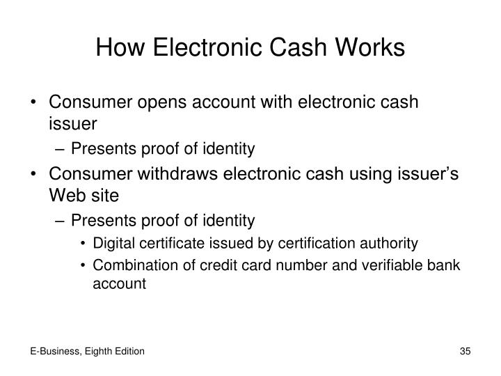 How Electronic Cash Works