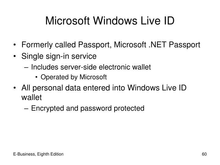 Microsoft Windows Live ID