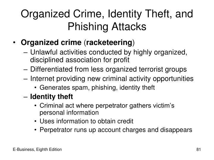 Organized Crime, Identity Theft, and Phishing Attacks