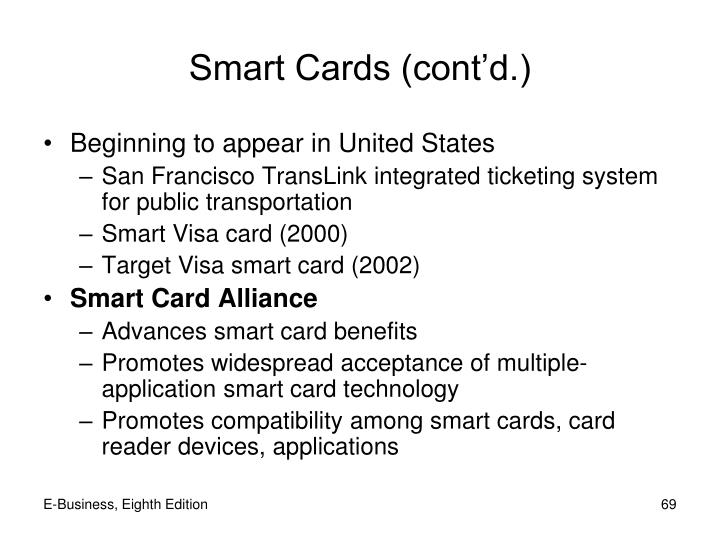 Smart Cards (cont'd.)