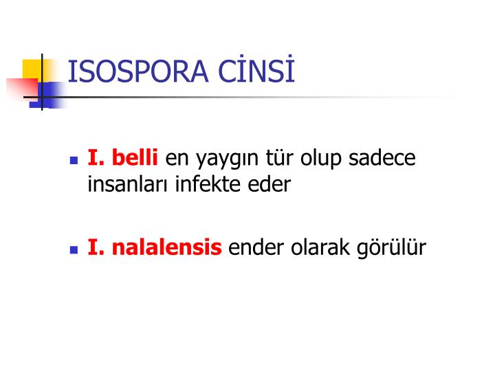ISOSPORA CİNSİ