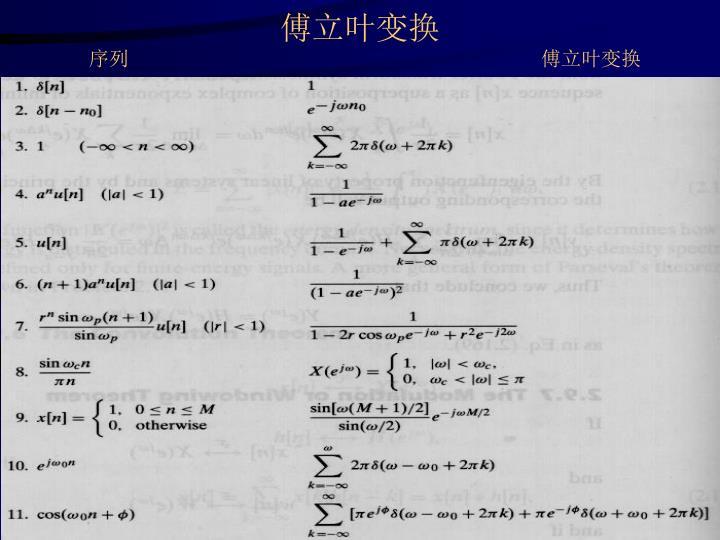 傅立叶变换