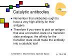catalytic antibodies