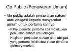 go public penawaran umum