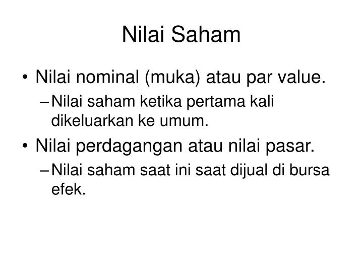 Nilai Saham
