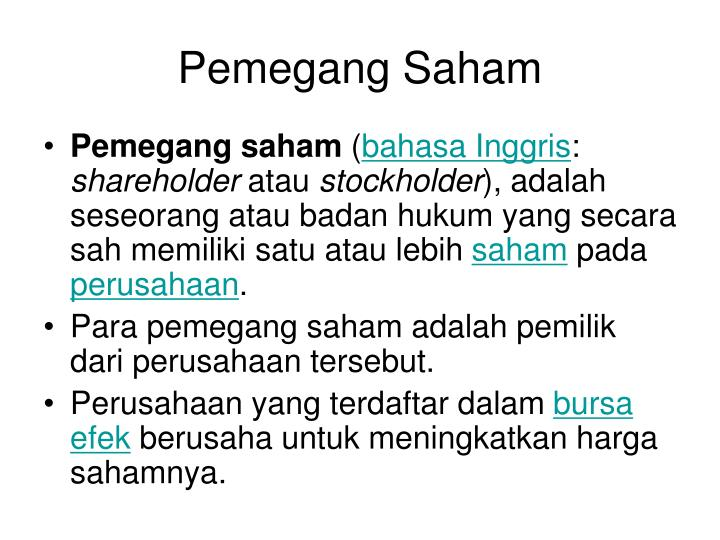 Pemegang Saham
