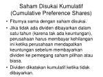 saham disukai kumulatif cumulative preference shares