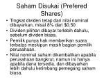 saham disukai prefered shares