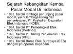 sejarah kebangkitan kembali pasar modal di indonesia1