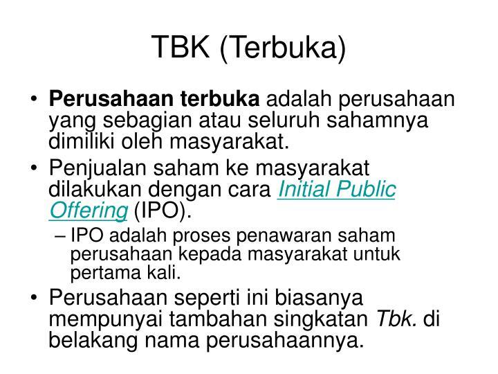 TBK (Terbuka)