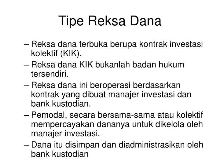 Tipe Reksa Dana