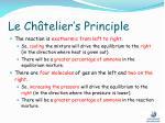 le ch telier s principle