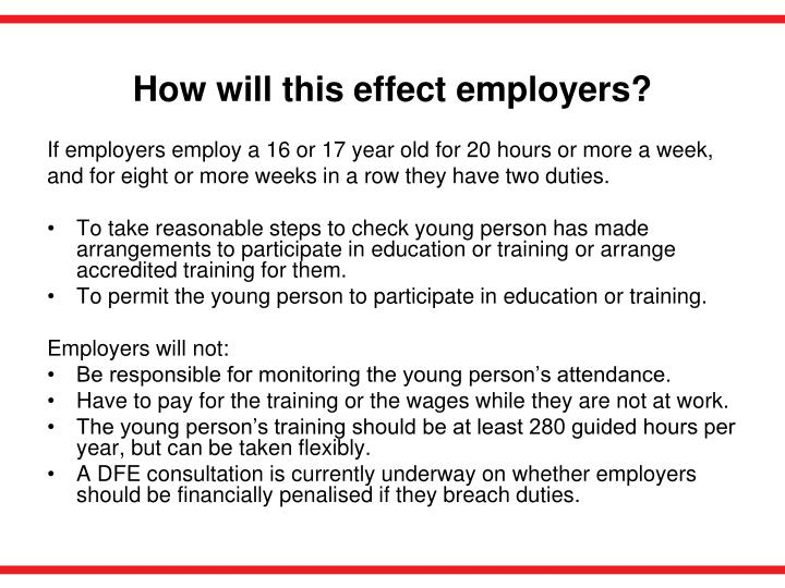 How will this effect employers?