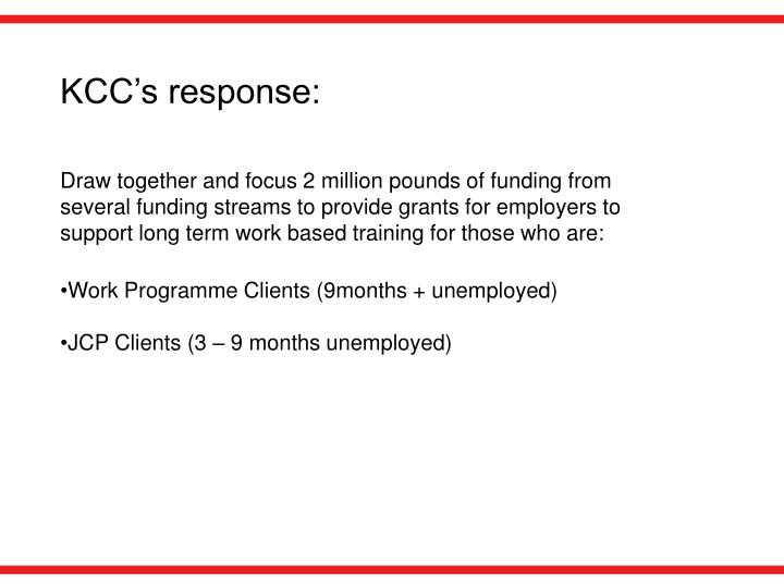 KCC's response: