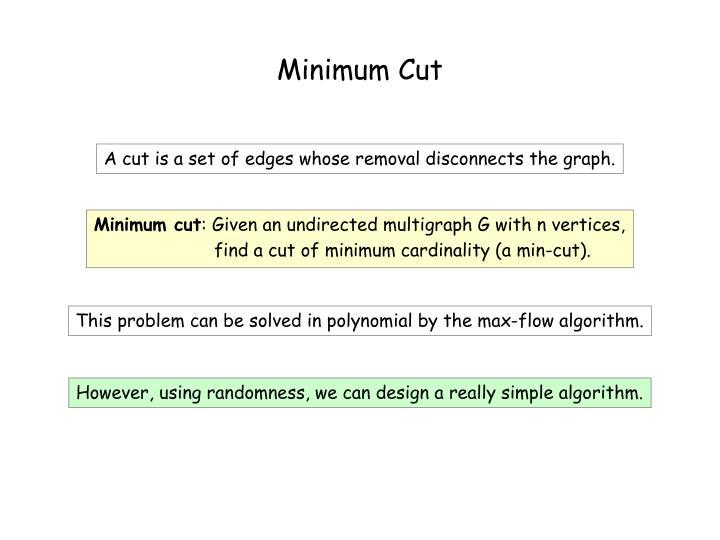 Minimum Cut