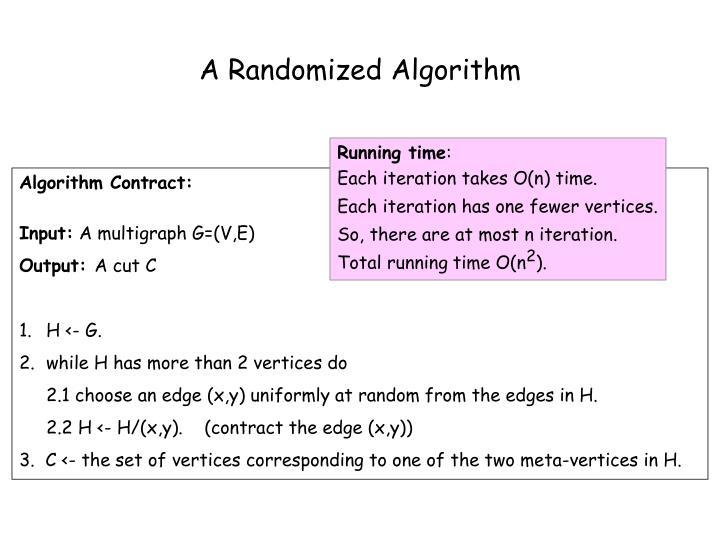 A Randomized Algorithm