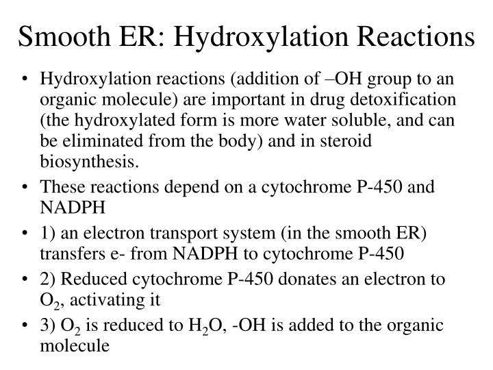 Smooth ER: Hydroxylation Reactions