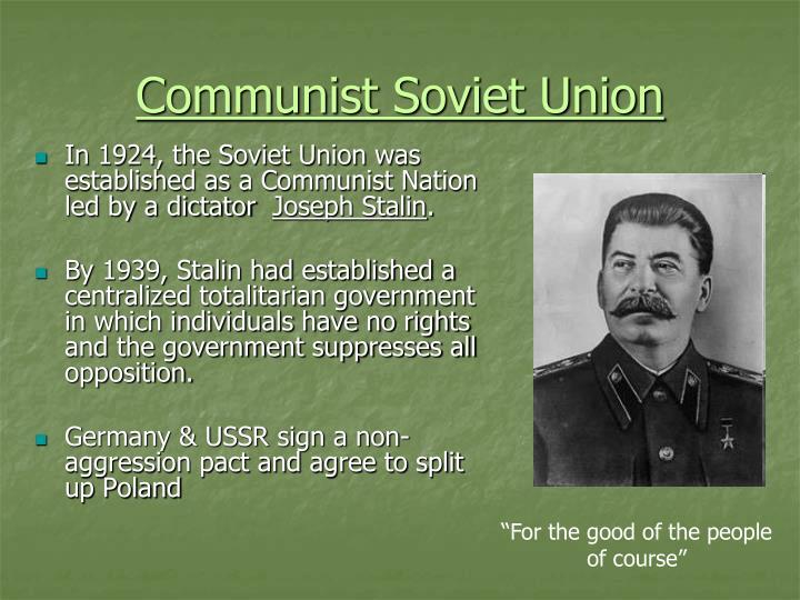 Communist Soviet Union