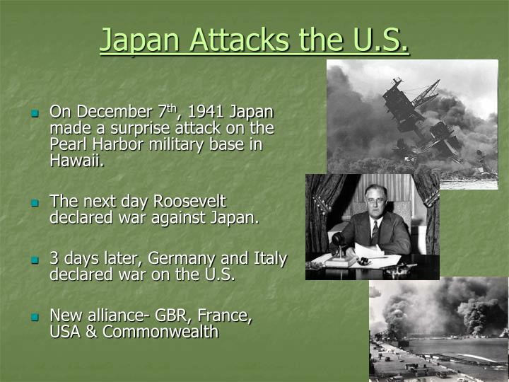 Japan Attacks the U.S.