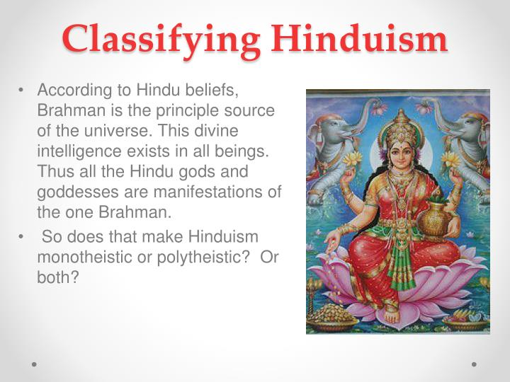 Classifying Hinduism