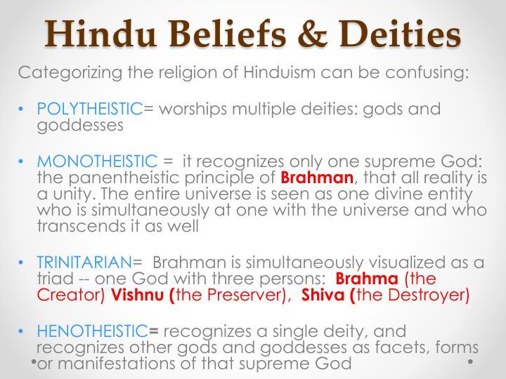 Hindu Beliefs & Deities