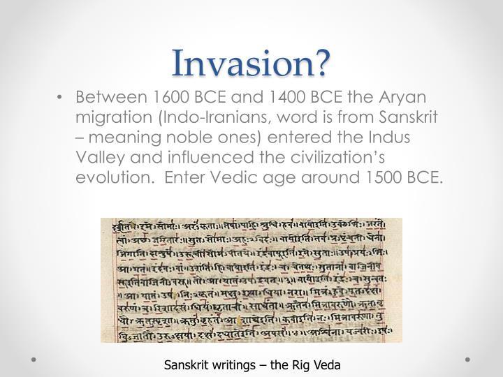 Invasion?
