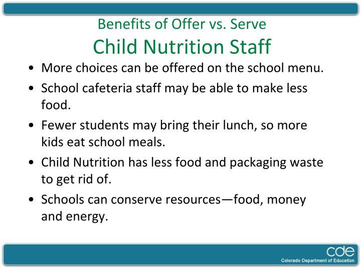 Benefits of Offer vs. Serve