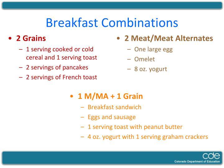 Breakfast Combinations