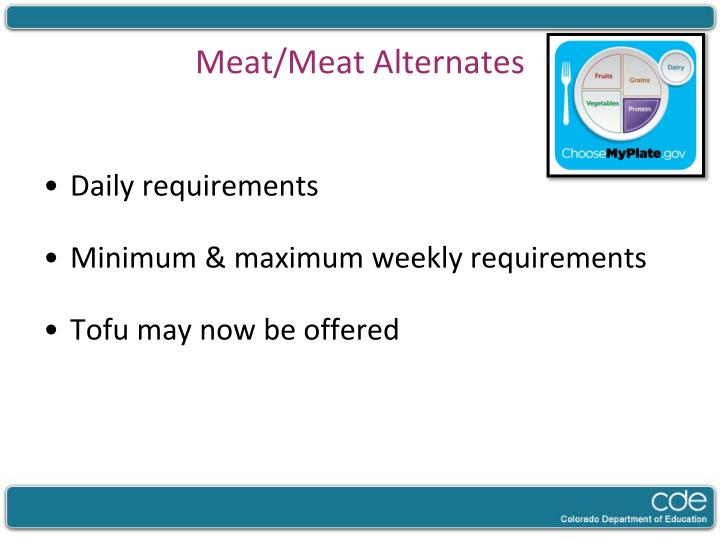 Meat/Meat Alternates
